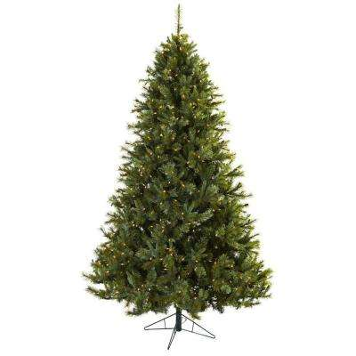 majestic multi pine artificial christmas tree with 650 clear lights