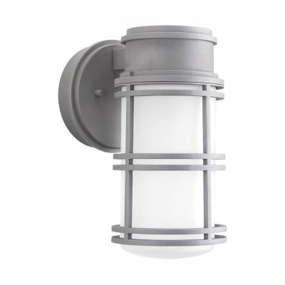 Bell Collection 1-Light Textured Graphite Outdoor Integrated LED Wall Lantern Sconce