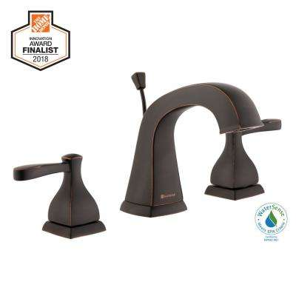 Milner 8 in. Widespread 2-Handle High-Arc Bathroom Faucet in Bronze