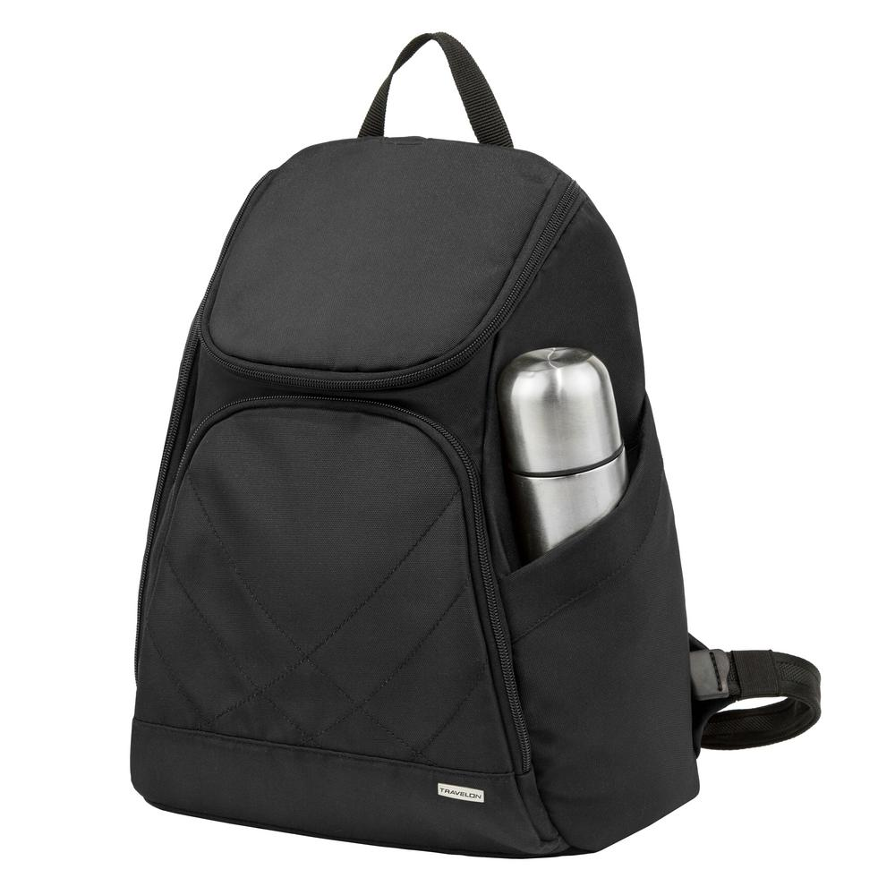 Travelon 16 in. Anti-Theft Black Backpack-42310-500 - The Home Depot 3d1dcde98c63b
