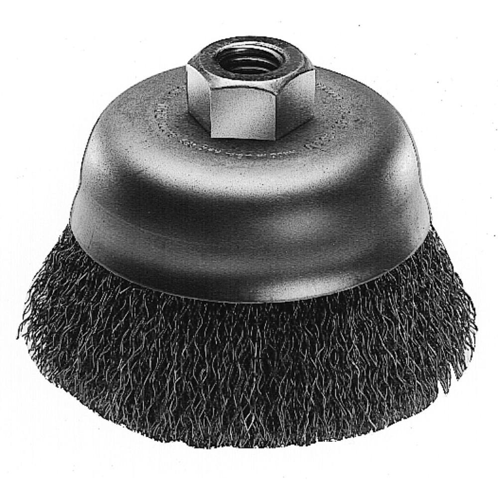 Dremel In Carbon Steel Cup Brush For Removing Corrosion From - Vinyl cup brush