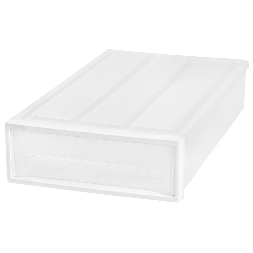 17.31 in. x 6.13 in. Clear Underbed Storage Drawer (4-Pack)