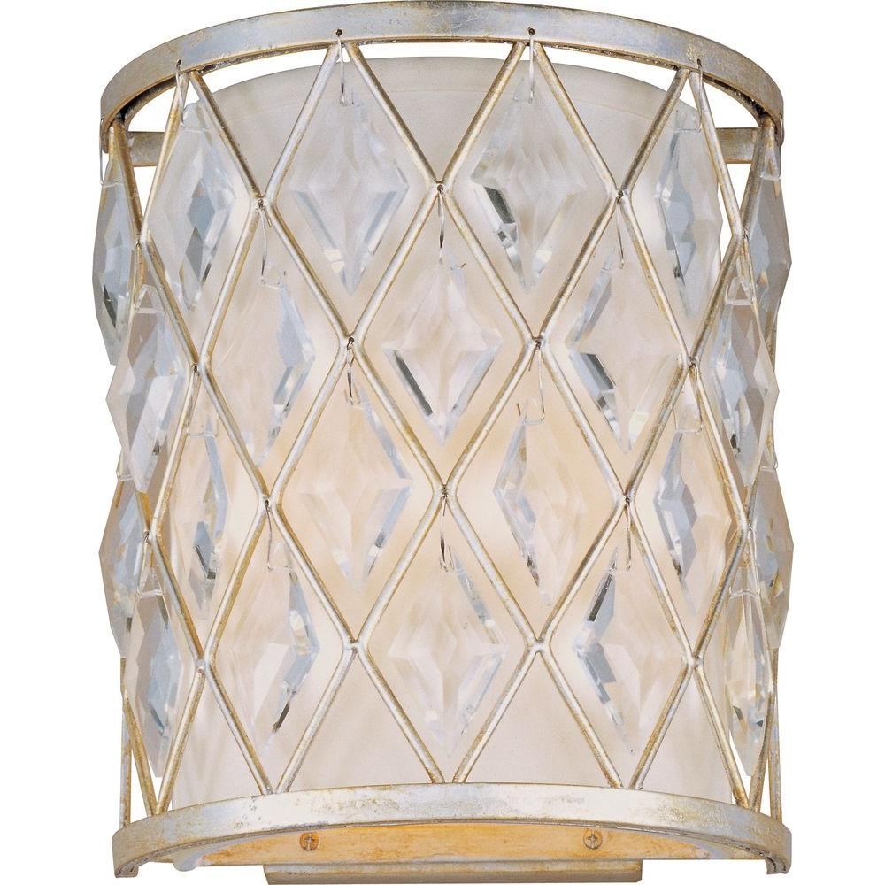 Diamond 2-Light Golden Silver Sconce
