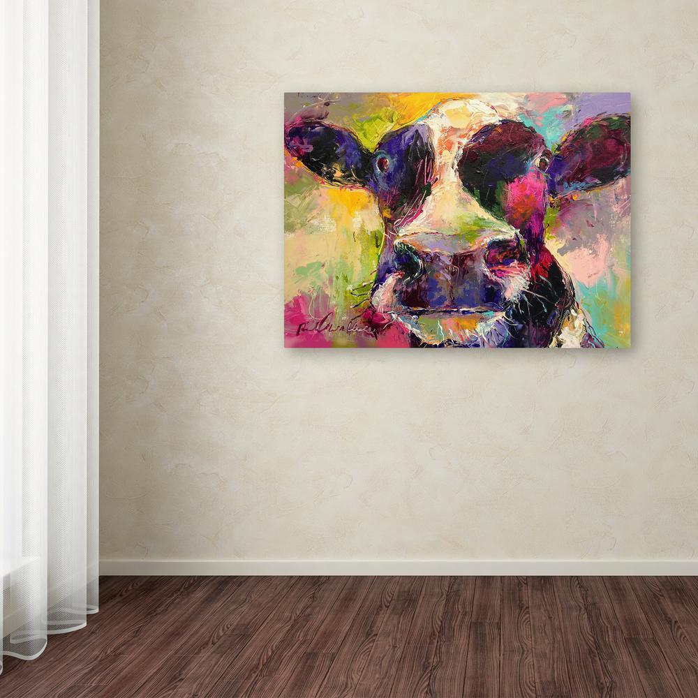"35 in. x 47 in. ""Art Cow 4584"" by Richard Wallich Printed Canvas Wall Art"
