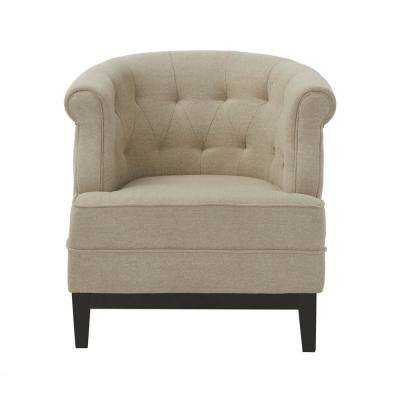 Emma Textured Natural Fabric Arm Chair