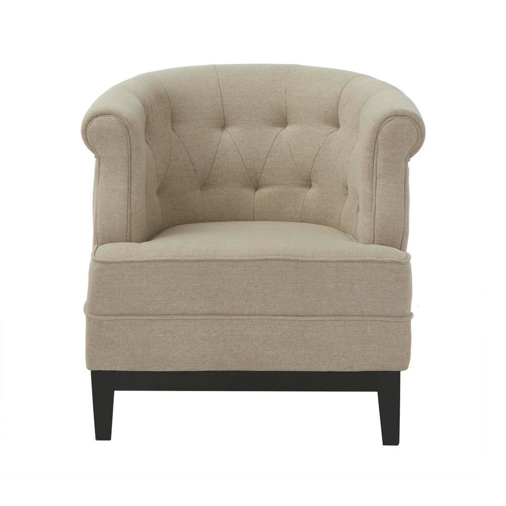 Emma Textured Natural Fabric Arm Chair