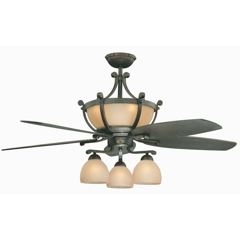 Illumine 7-Light Ceiling Fan Oil Rubbed Bronze-DISCONTINUED