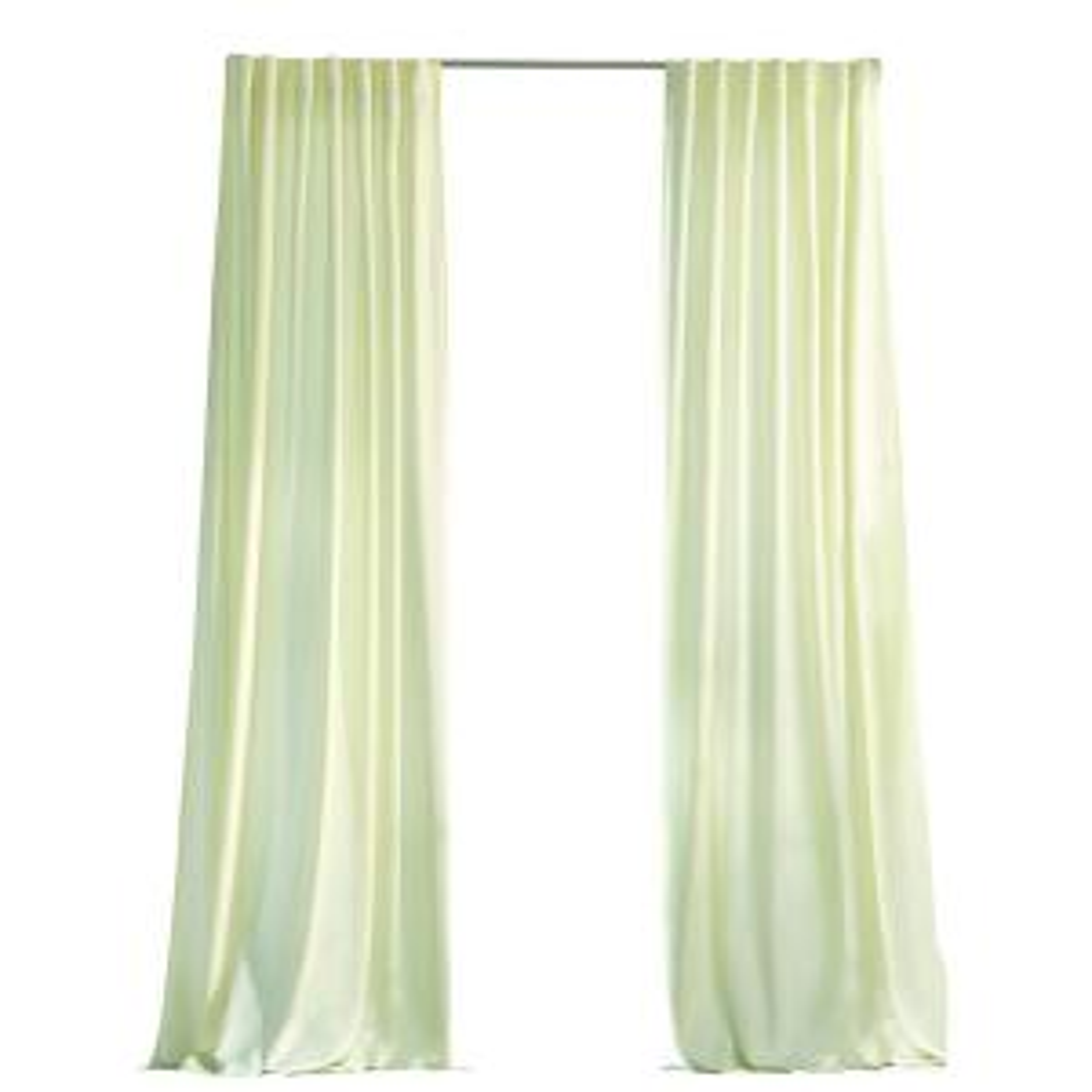 Martha Stewart Living Cream Outdoor Back Tab Curtain 1624454   The Home  Depot