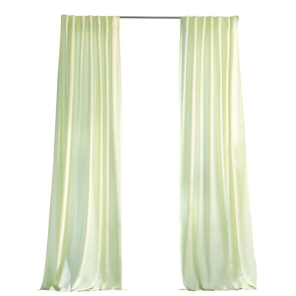 Martha Stewart Living Cream Outdoor Back Tab Curtain