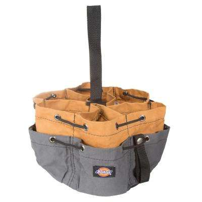 10 in. Soft Sided Accessory Parachute Tool Bag in Grey/Tan