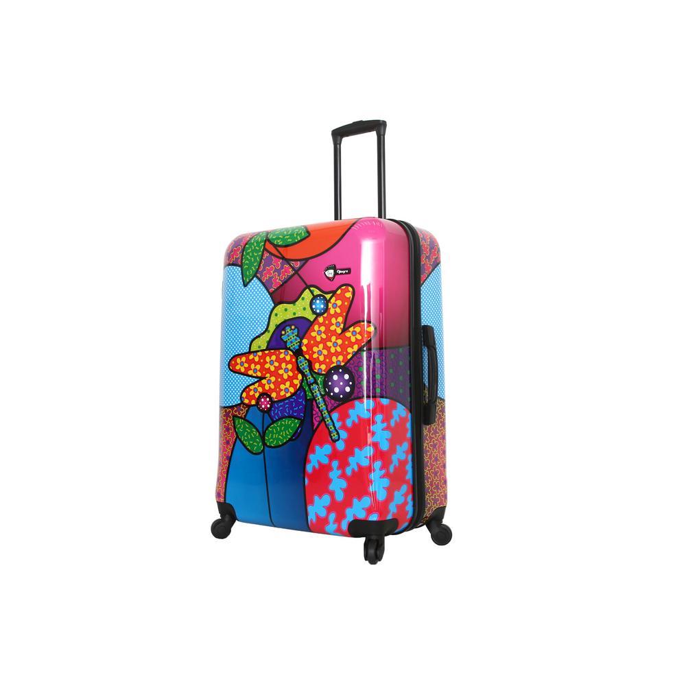 Allegra 28 in. Pop Dragonfly Spinner Suitcase
