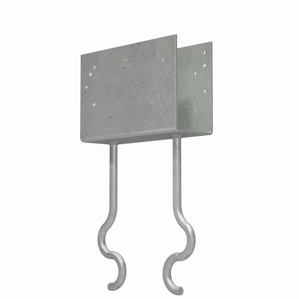 Simpson Strong-Tie CCQM Hot-Dip Galvanized Column Cap for 3-5/8 in. Beam, with Strong-Drive® SDS Screws