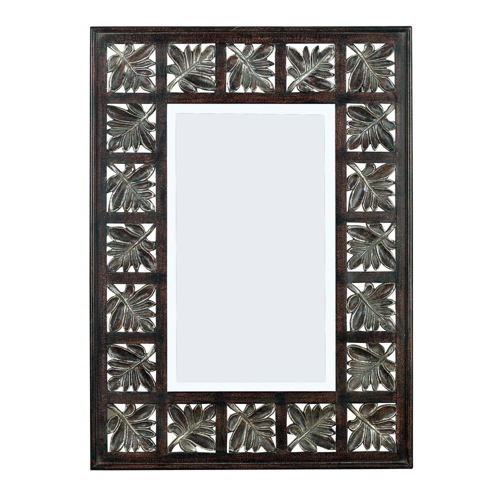 Home Decorators Collection Foliage 32 in. H x 22 in. W Polyurethane Framed Mirror