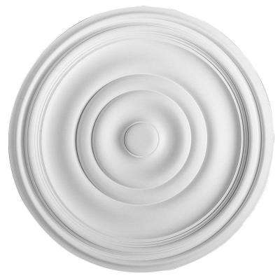 European Collection 19-1/8 in. x 1-9/16 in. Traditional Plain Polyurethane Ceiling Medallion