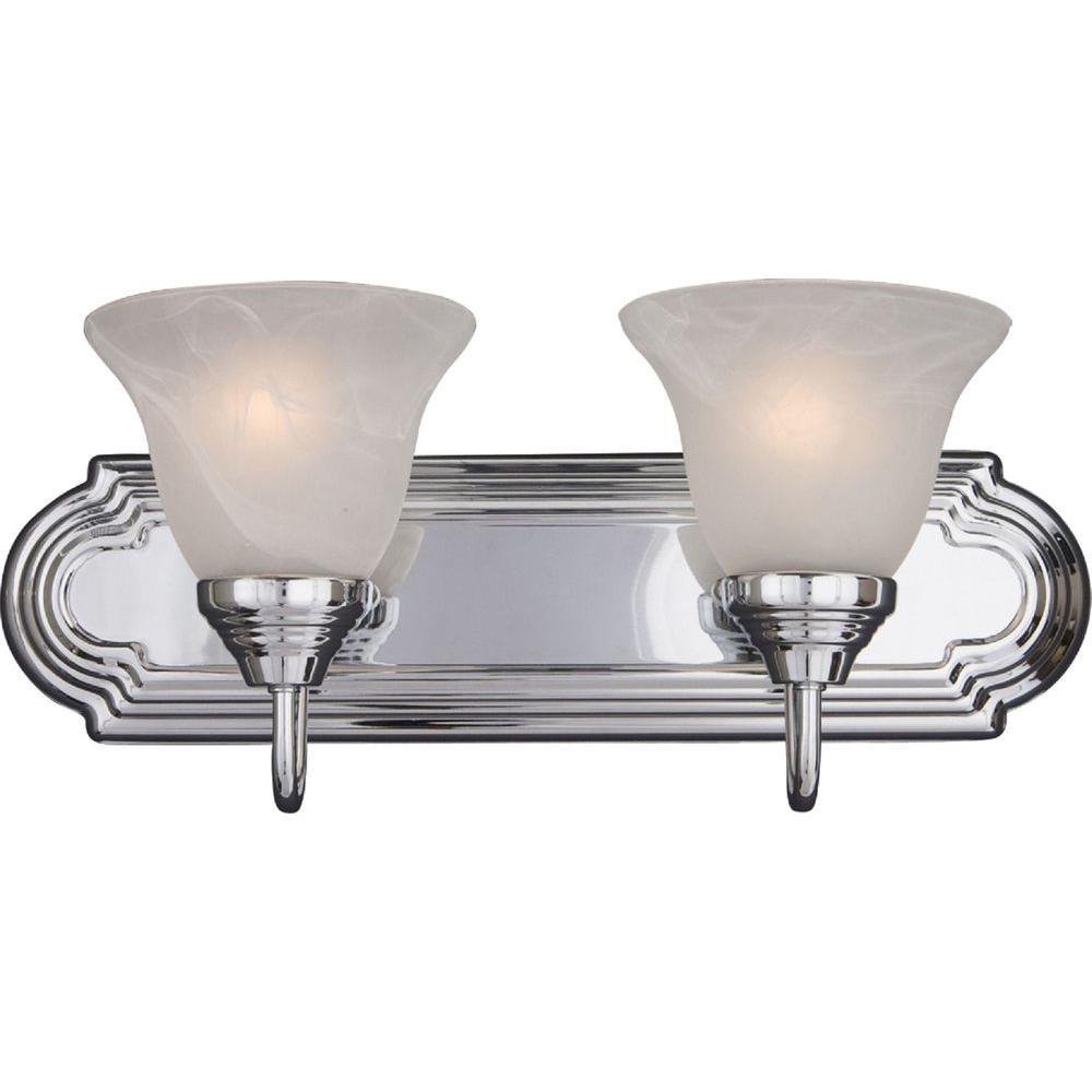 Essentials 2-Light Polished Chrome Bath Vanity Light