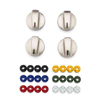Universal Gas and Electric Range Stainless Steel Knob Kit (4-Pack)