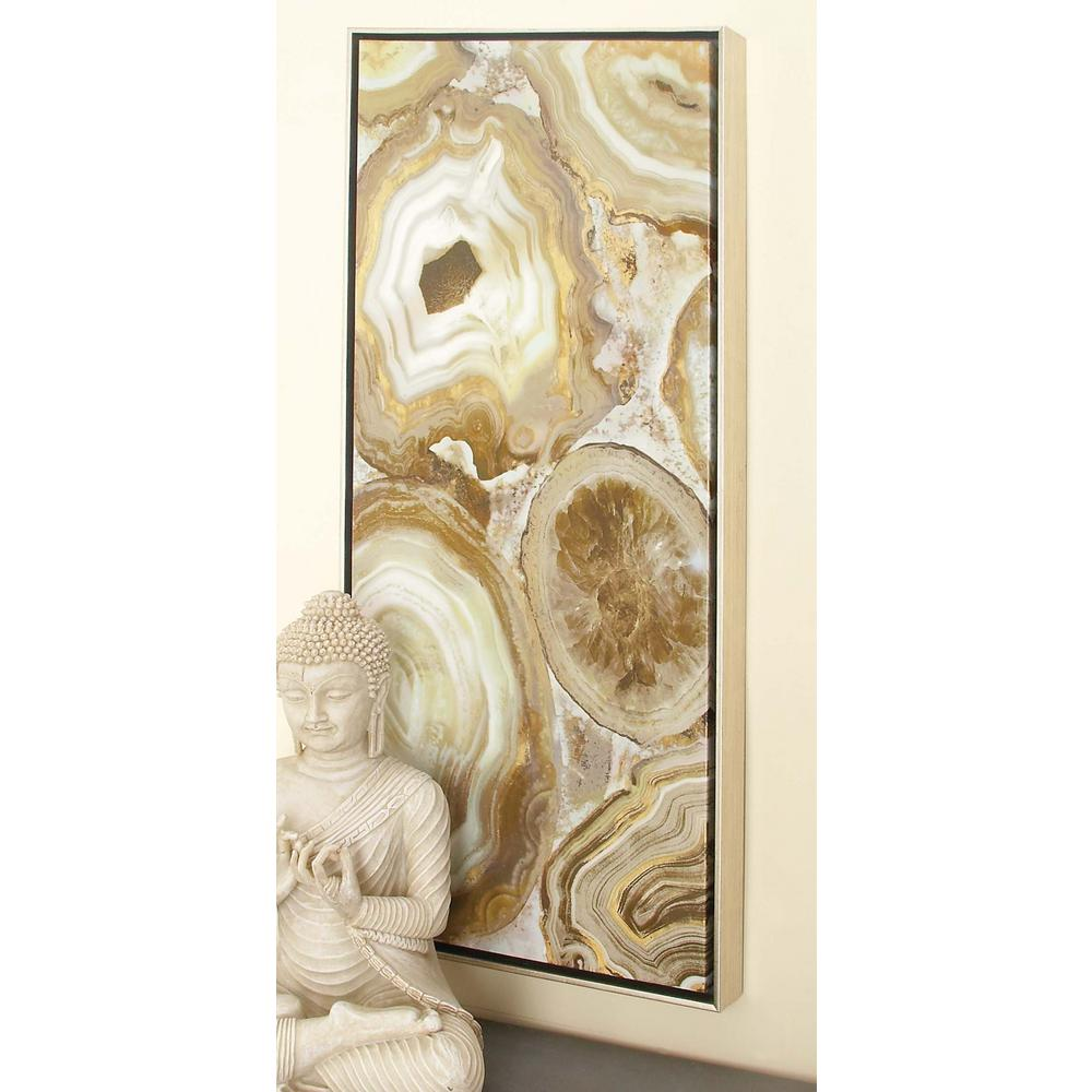 Brown marble framed canvas wall art