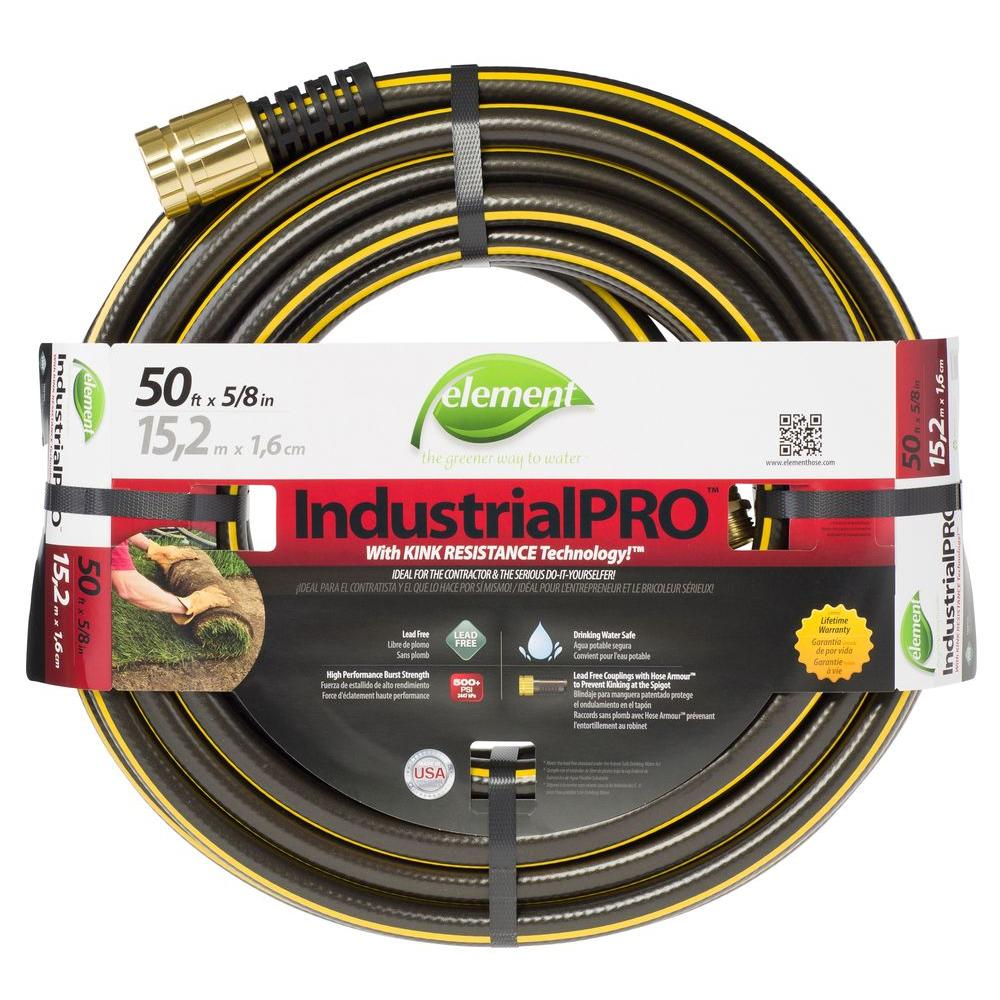 Great Element IndustrialPRO 5/8 In. Dia X 50 Ft. Lead Free Garden Hose ELIHT58050    The Home Depot