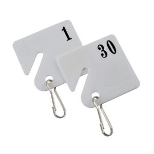 Buddy Products Plastic Key Tags Numbered 1 to 30 by Buddy Products