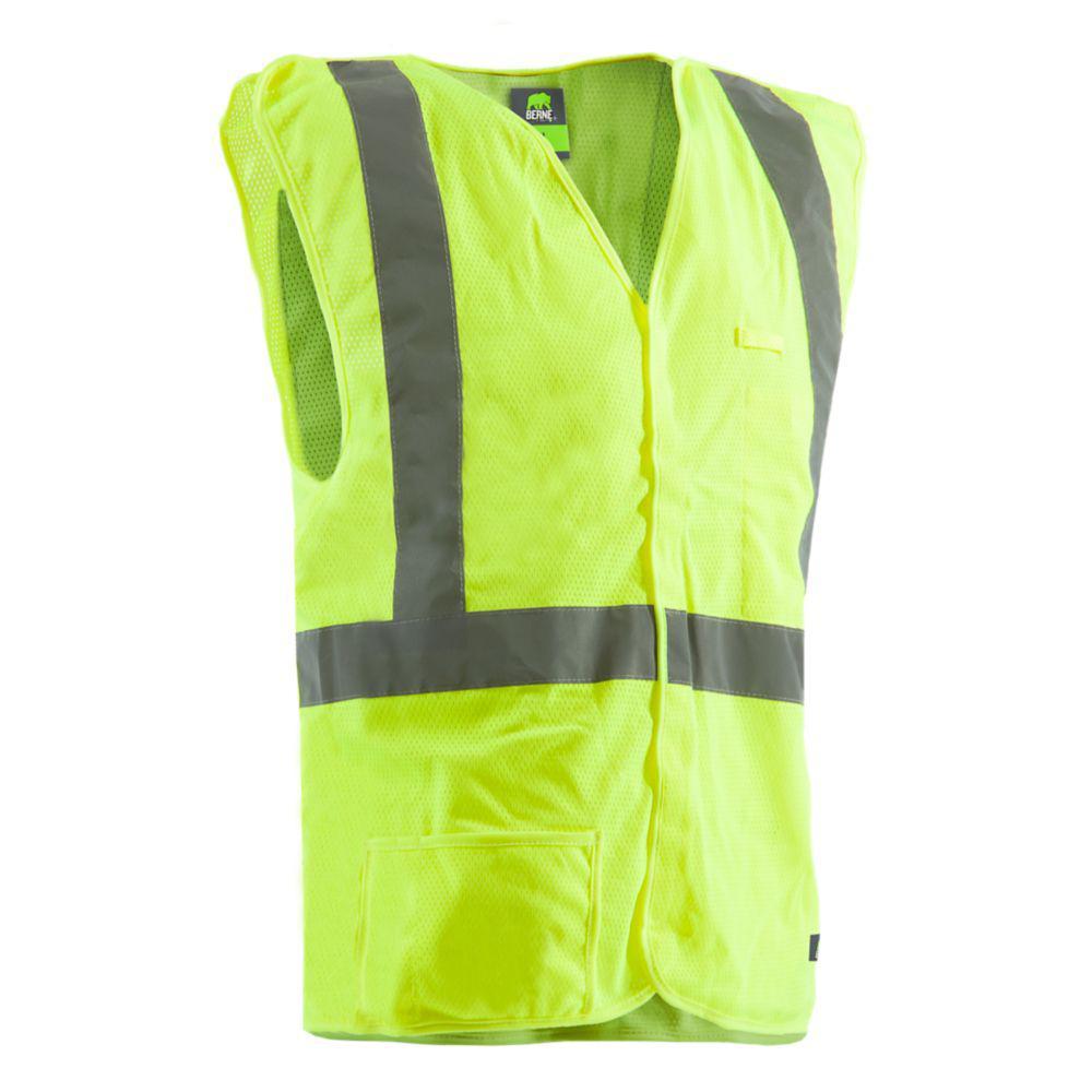 Berne Men's Medium Hi-Visibility Easy-Off Vest