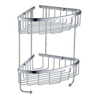 2 Tier Wire Basket in Chrome