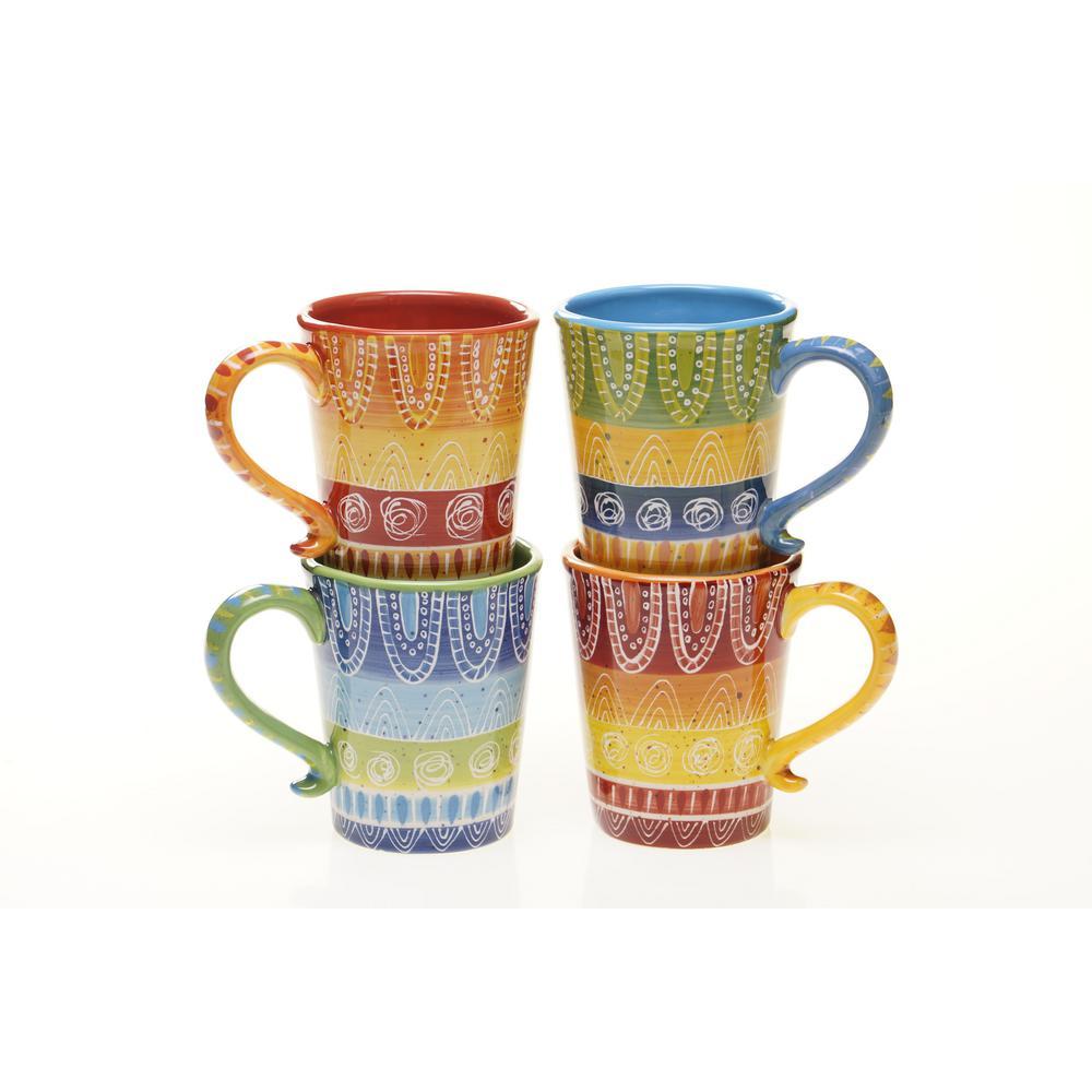Tapas 18 Oz Mug Set Of 4