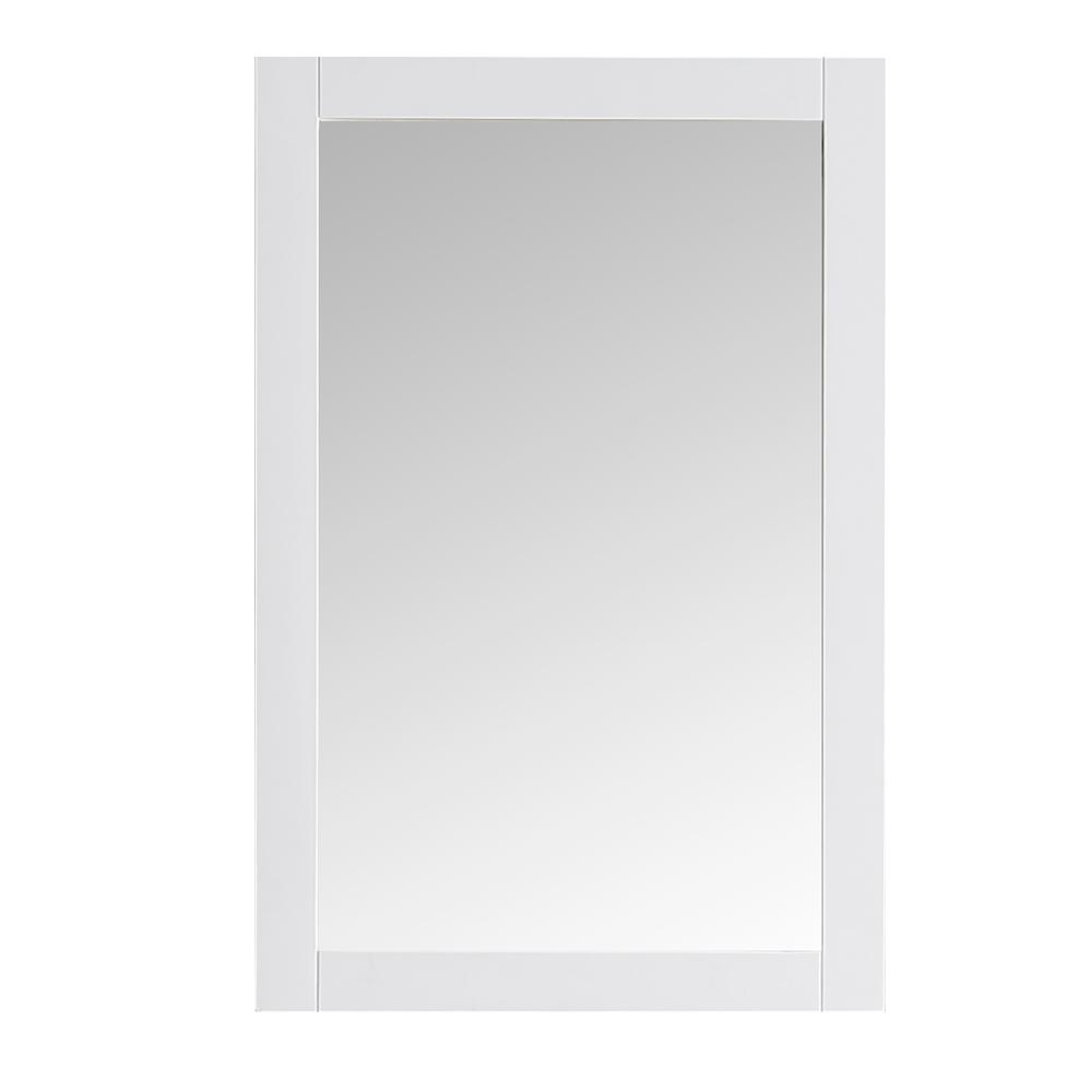 Fresca Hudson 20 in. W x 30 in. H Framed Wall Mirror in White Finish