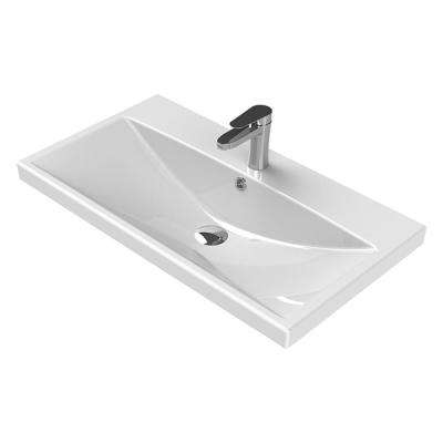 Elite Wall Mounted Bathroom Sink in White