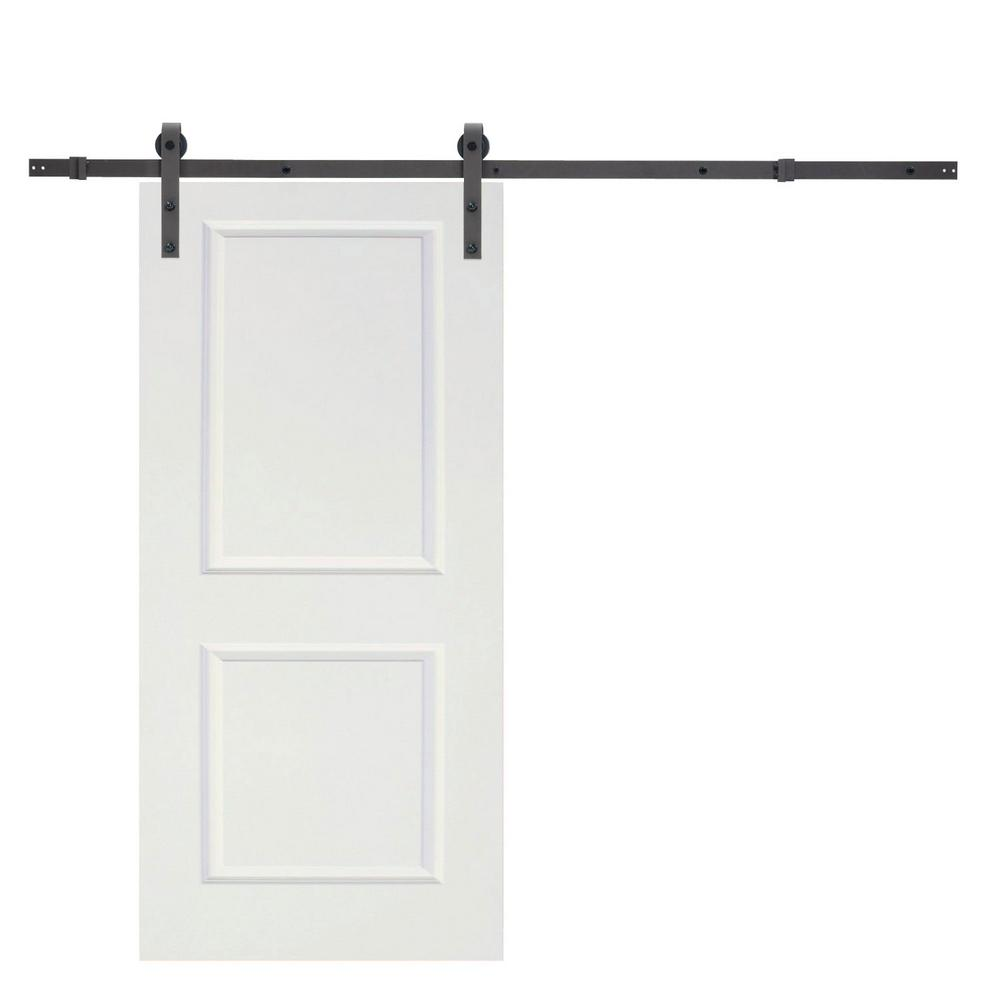 72 in. Classic Bent Strap Sliding Door Track Hardware and 36