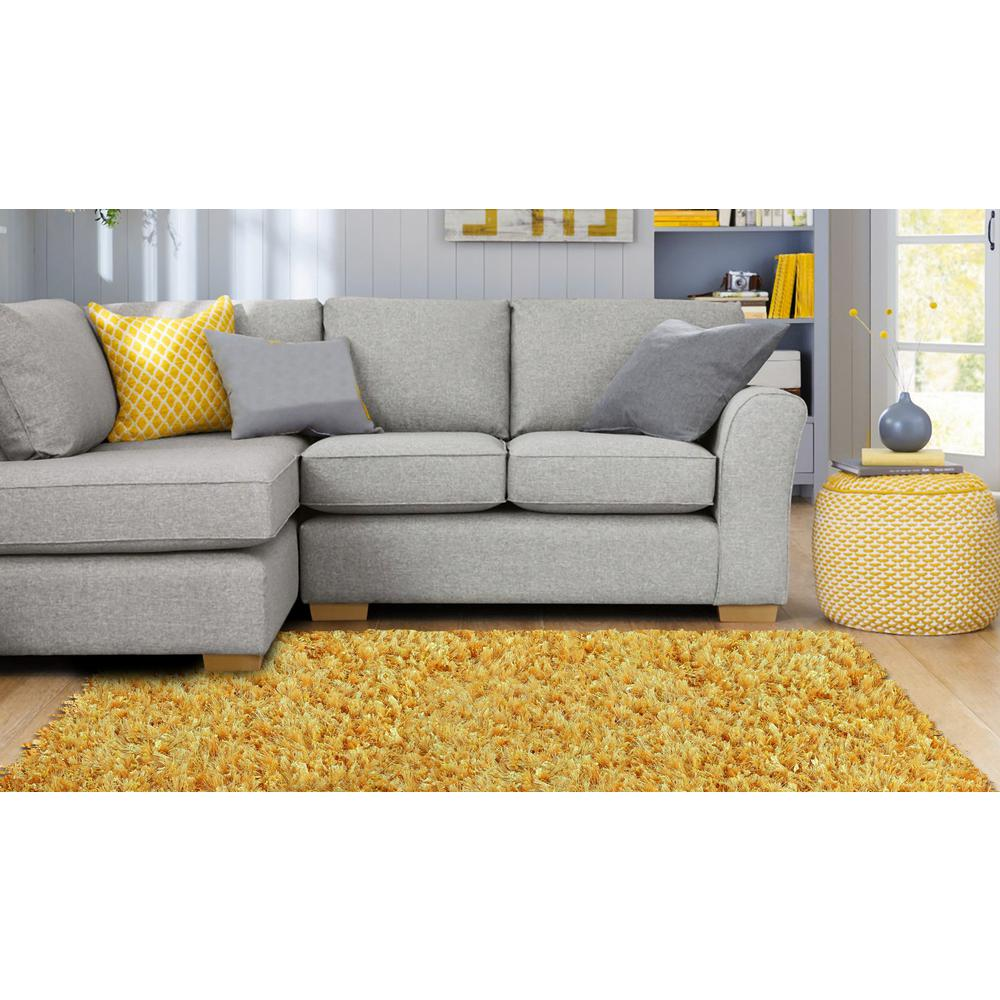 Yellow 5 ft. x 5 ft. Round Area Rug