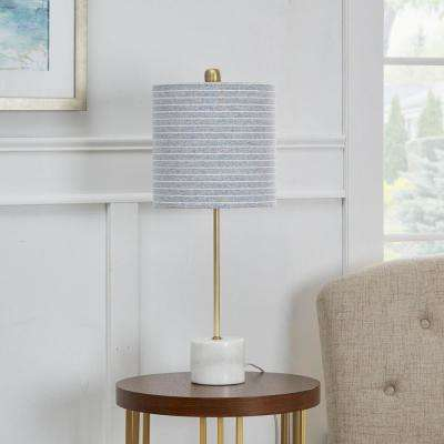 Lori 23 in. Gold Table Lamp with Linen Shade