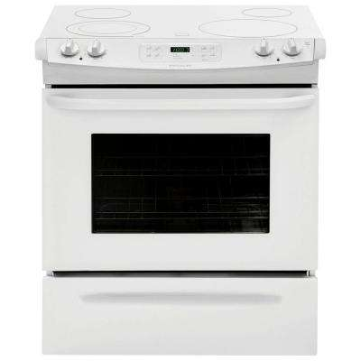30 in. 4.6 cu. ft. Slide-In Electric Range with Self-Cleaning Oven in White