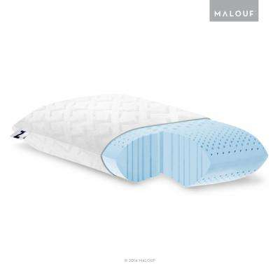 Z Zoned Dough Gel Memory Foam Pillow - King - Low Loft