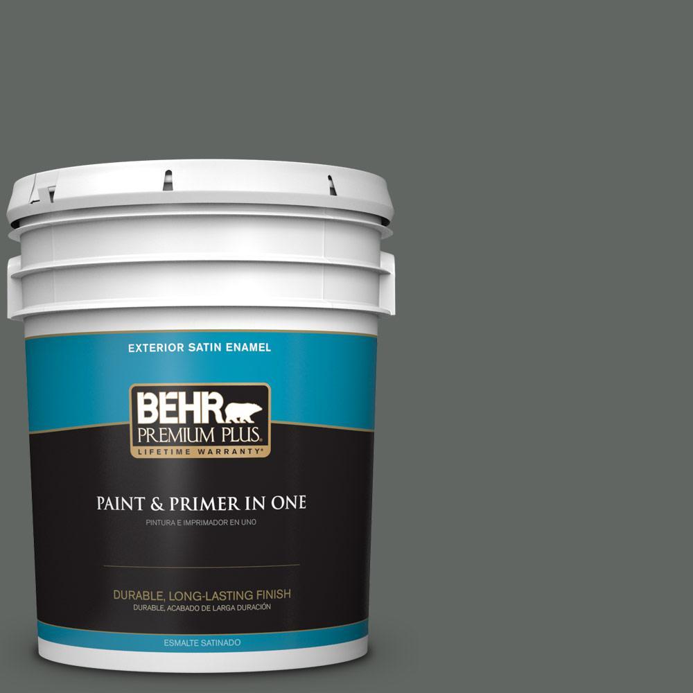 5 gal. #PPU25-02 Black Locust Satin Enamel Exterior Paint