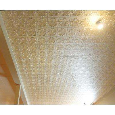 Dimensions Faux 2 ft. x 4 ft. Creme Tin Style Ceiling and Wall Decal