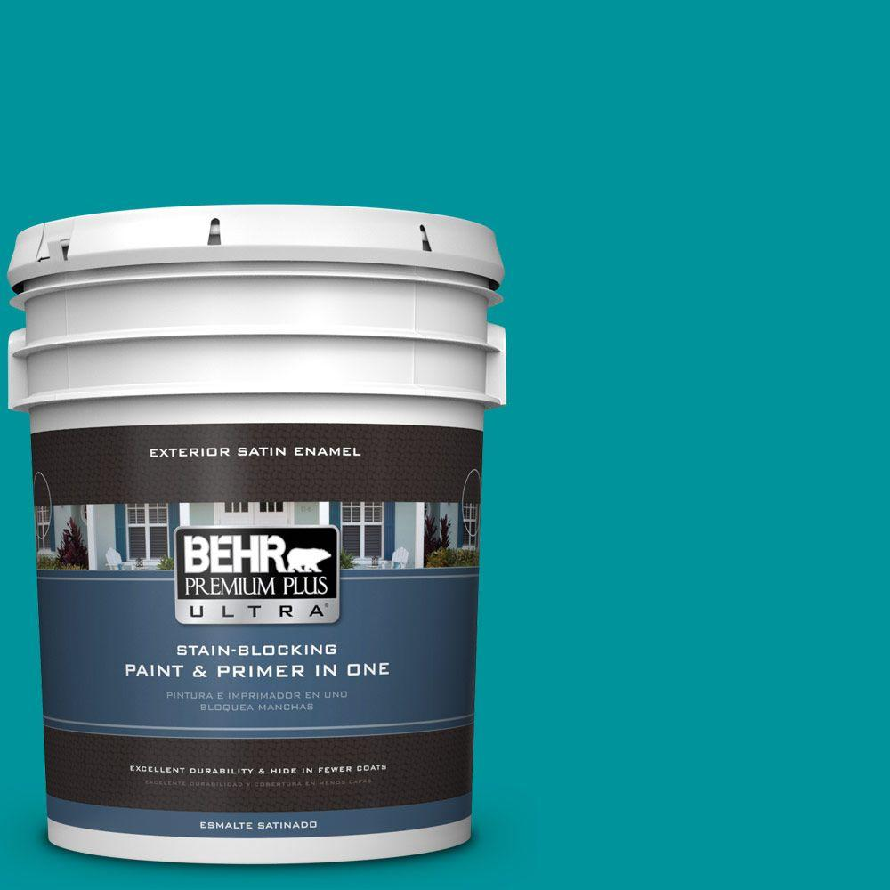 BEHR Premium Plus Ultra 5-gal. #500B-6 Peacock Feather Satin Enamel Exterior Paint