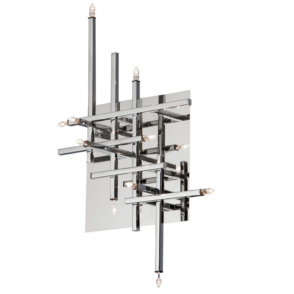 Radionic Hi Tech Mondrian 11-Light Polished Chrome Flush ...
