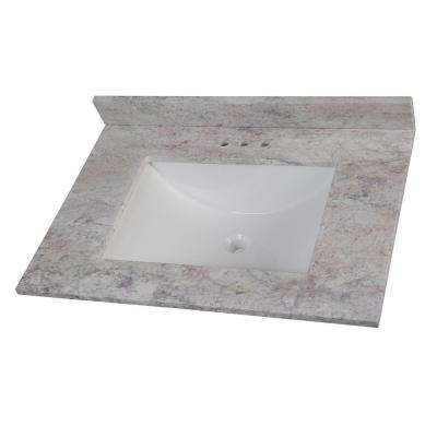 31 in. W Stone Effects Vanity Top in Winter Mist
