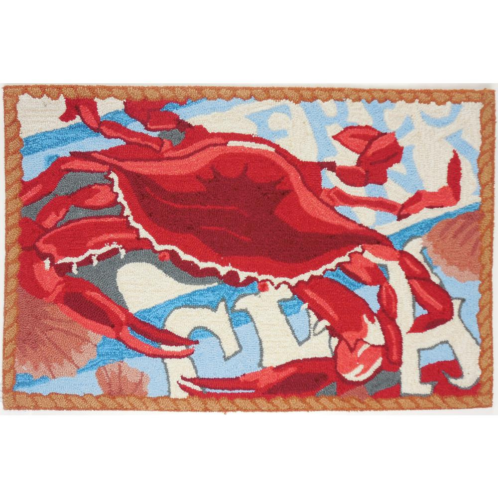 Fresh Catch Crab Multi 2 Ft X 3 Area Rug