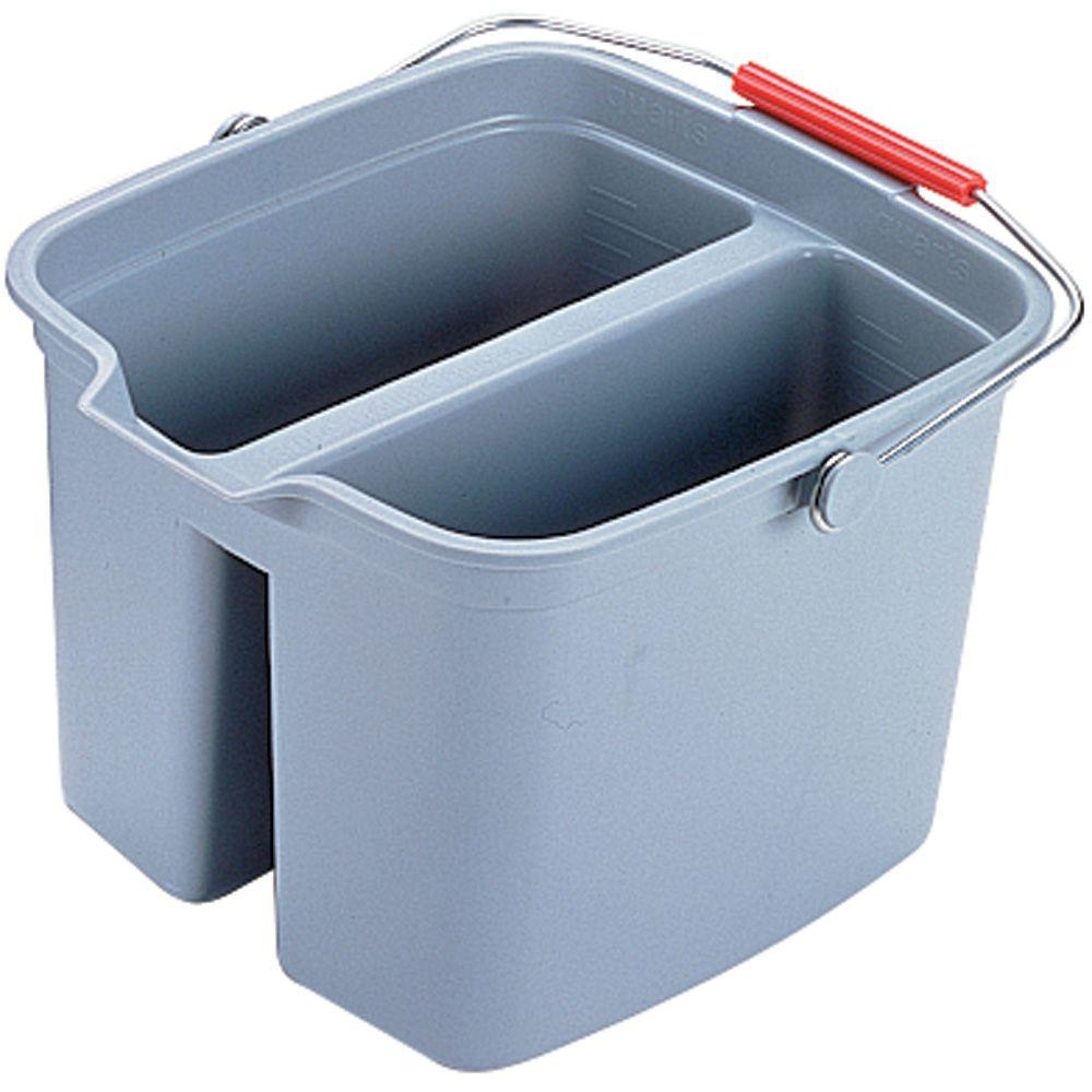 17 Qt. Grey Double Pail