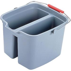 Rubbermaid Commercial Products 17 Qt. Grey Double Pail by Rubbermaid Commercial Products