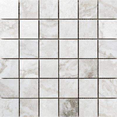 Gateway Avorio 12.99 in. x 12.99 in. x 10mm Porcelain Mesh-Mounted Mosaic Floor or Wall Tile