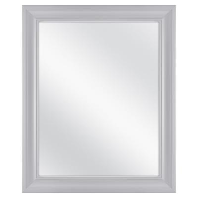 27.5 in. x 33.5 in. Framed Fog Free Mirror in Gray