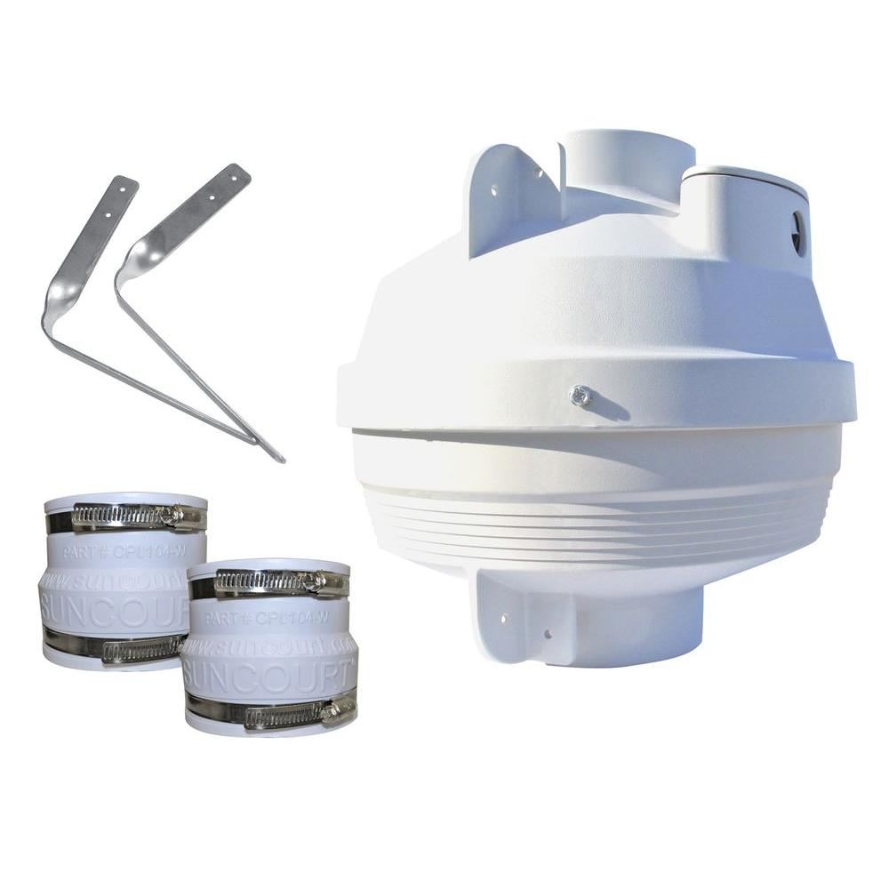 Suncourt 4 in. to 4 in. Radon Mitigation Fan Kit