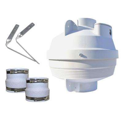 4 in. to 4 in. Radon Mitigation Fan Kit