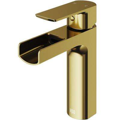 Ileana Single Hole Single-Handle Bathroom Faucet in Matte Gold