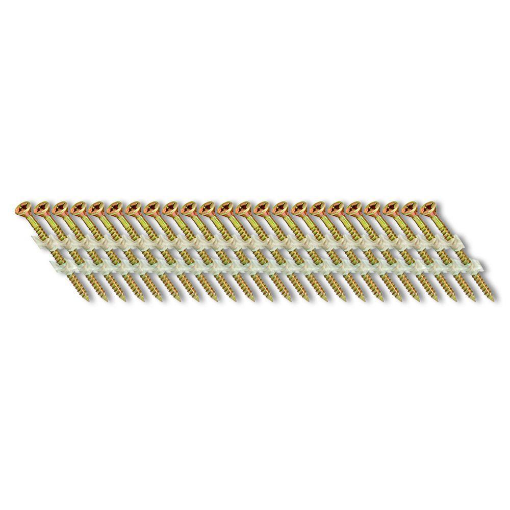 3 in. x 1/9 in. 33-Degree Coarse Thread Electro-Galvanize Plastic Strip Square Head Nail Screw Fastener (1,000-Pack)