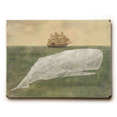 "9 in. x 12 in. ""Far From Nantucket"" by Terry Fan Solid Wood Wall Art"