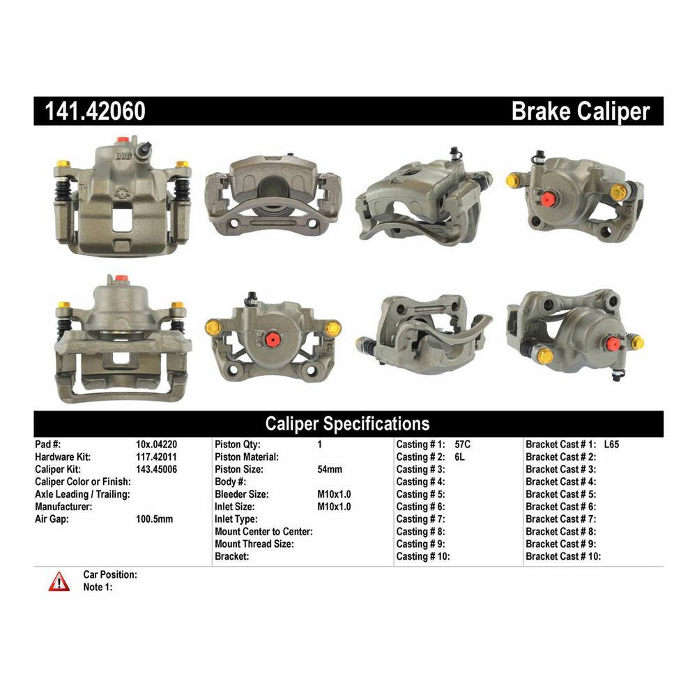 Centric Disc Brake Caliper 1989-1996 Nissan 240SX 2 4L