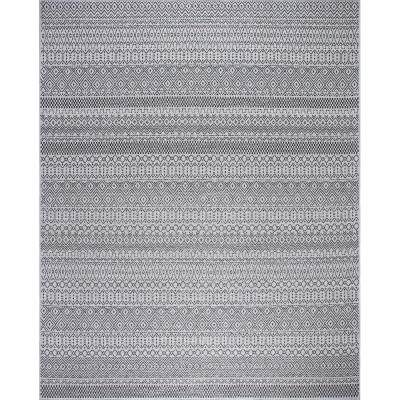 Rhapsody Gray 5 ft. x 7 ft. Indoor/Outdoor Area Rug